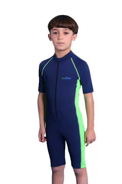 boys sunsuit navy lime