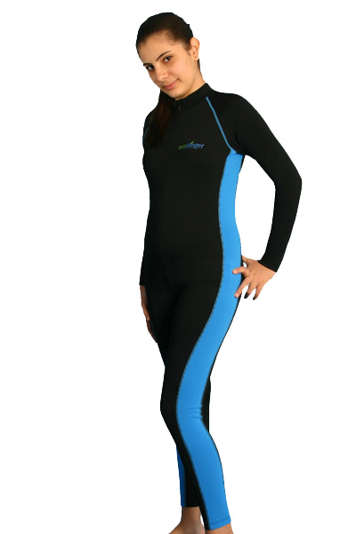 Girls stinger suit black blue