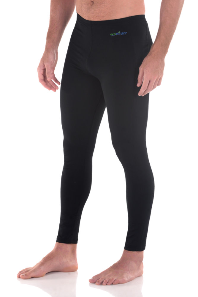 men swim leggings pants black uv protection