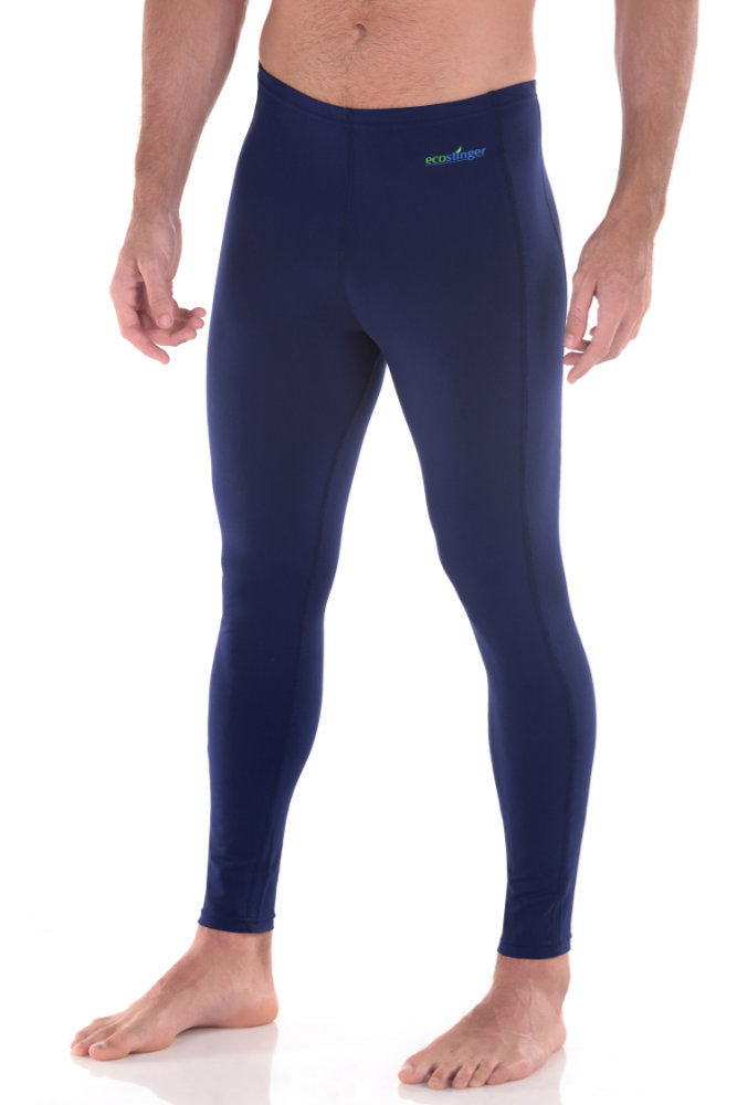 men swim leggings pants navy sun protection