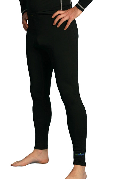 men swim leggings black