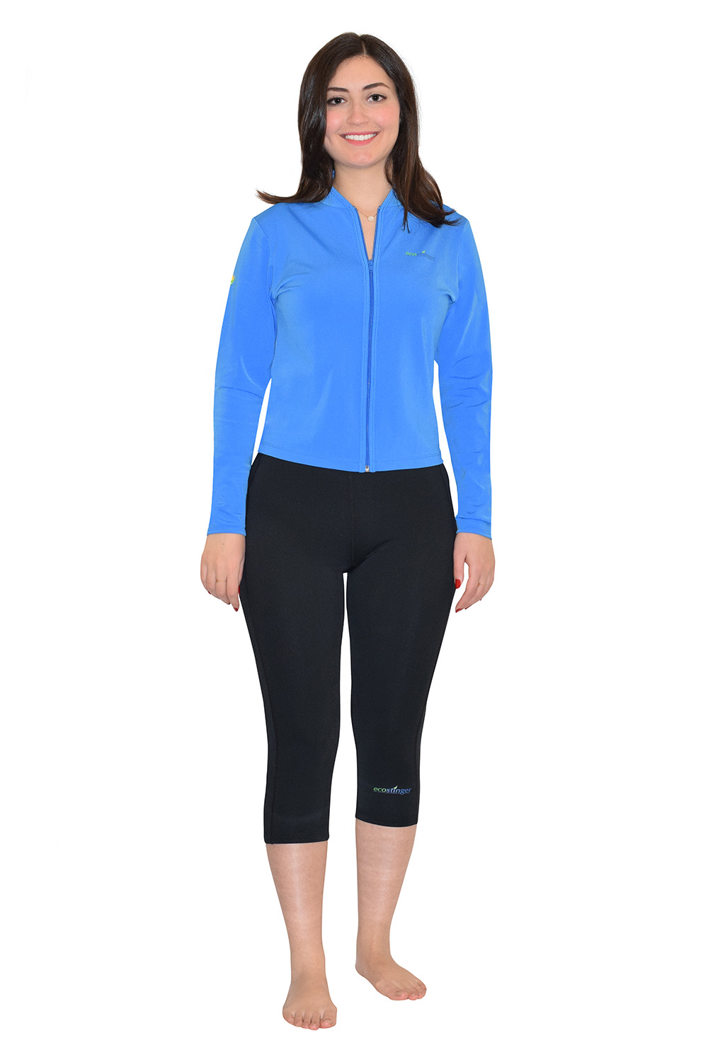 women beach sun clothing jacket and leggings