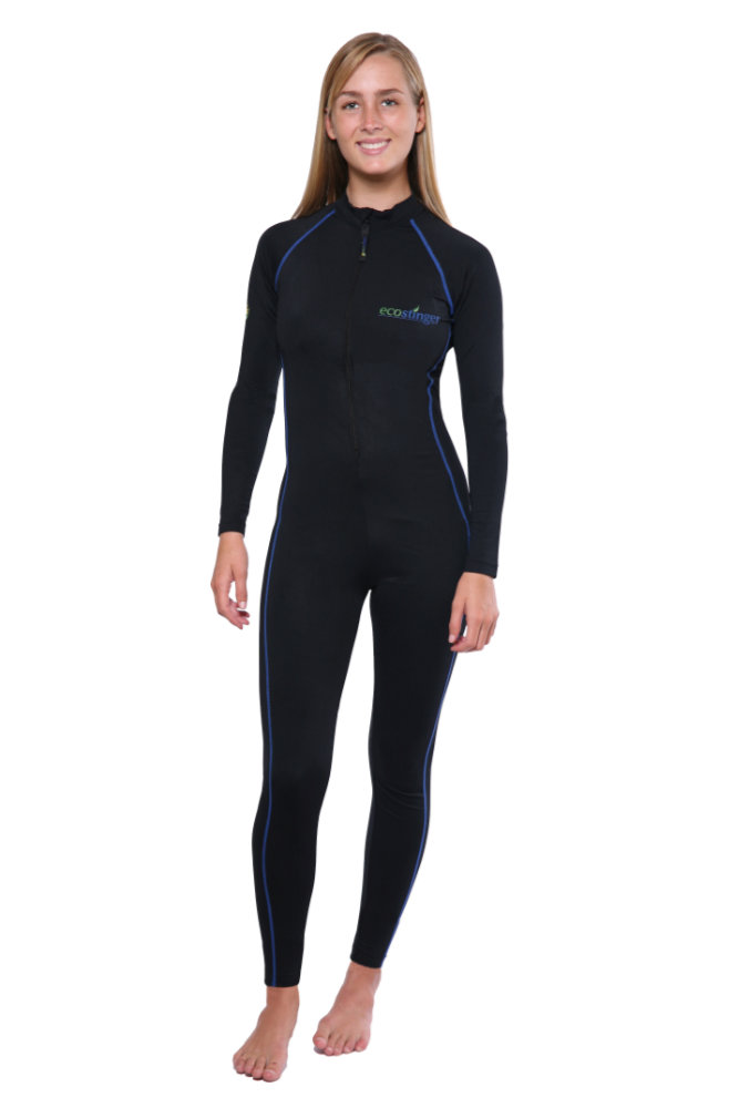 women full body stinger suit dive skin black royal stitch