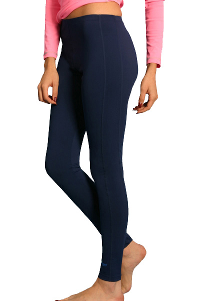 ladies swim leggings navy